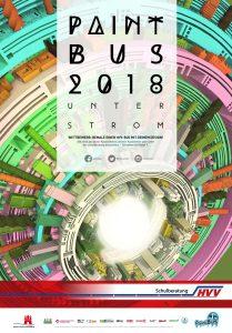 "HVV-PaintBus 2018 Plakat ""Unter Strom"""