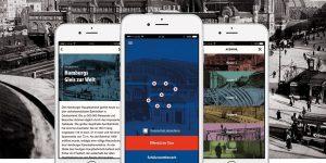 """Die Smartphone-App HVV-Zeitschiene ist mit dem """"German Design Award"""" in der Kategorie """"Excellent Communications Design Apps"""" ausgezeichnet worden."""
