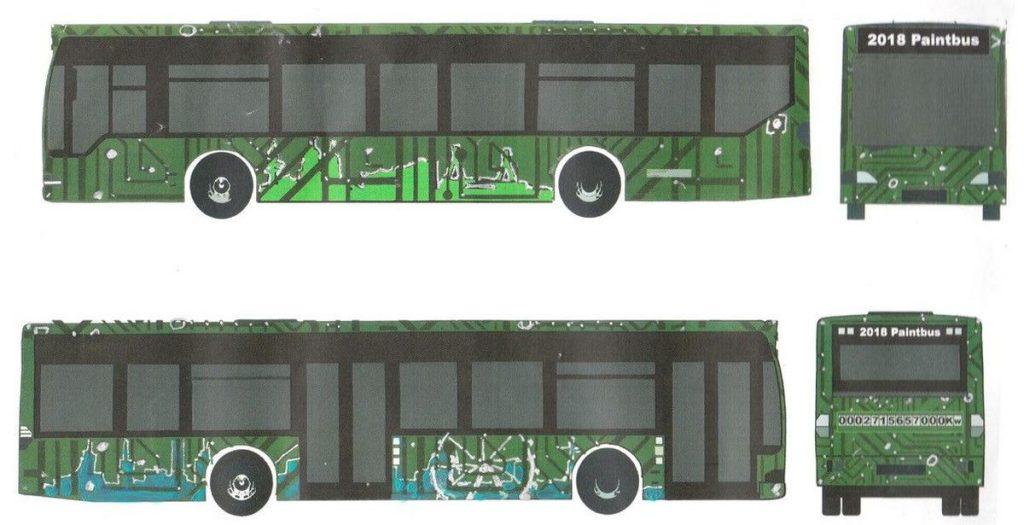 Der PaintBus-Entwurf von Cem Güvercin und Darian Niehus aus der Klasse 11a der Beruflichen Schule am Lämmermarkt wurde zum Sieger 2018 gekürt