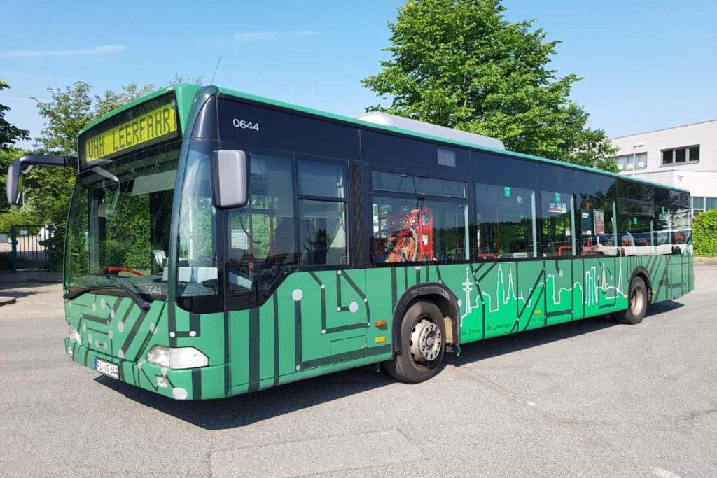 Der VHH-Bus wurde von Schülern von der Beruflichen Schule am Lämmermarkt gestaltet