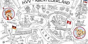 Vor 10 Jahren erschien erstmals das HVV-Malbuch. Hier lernen Kinder im Kita- und Vorschulalter spielerisch den Hamburger Verkehrsverbund kennen.