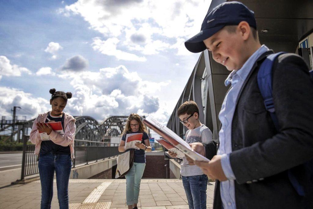 Die neuen Hamburg-Rallyes für die 4. Klasse haben 11 Startpunkte, die über das ganze Stadtgebiet verteilt sind und je nach Standort der Schule gewählt werden können.