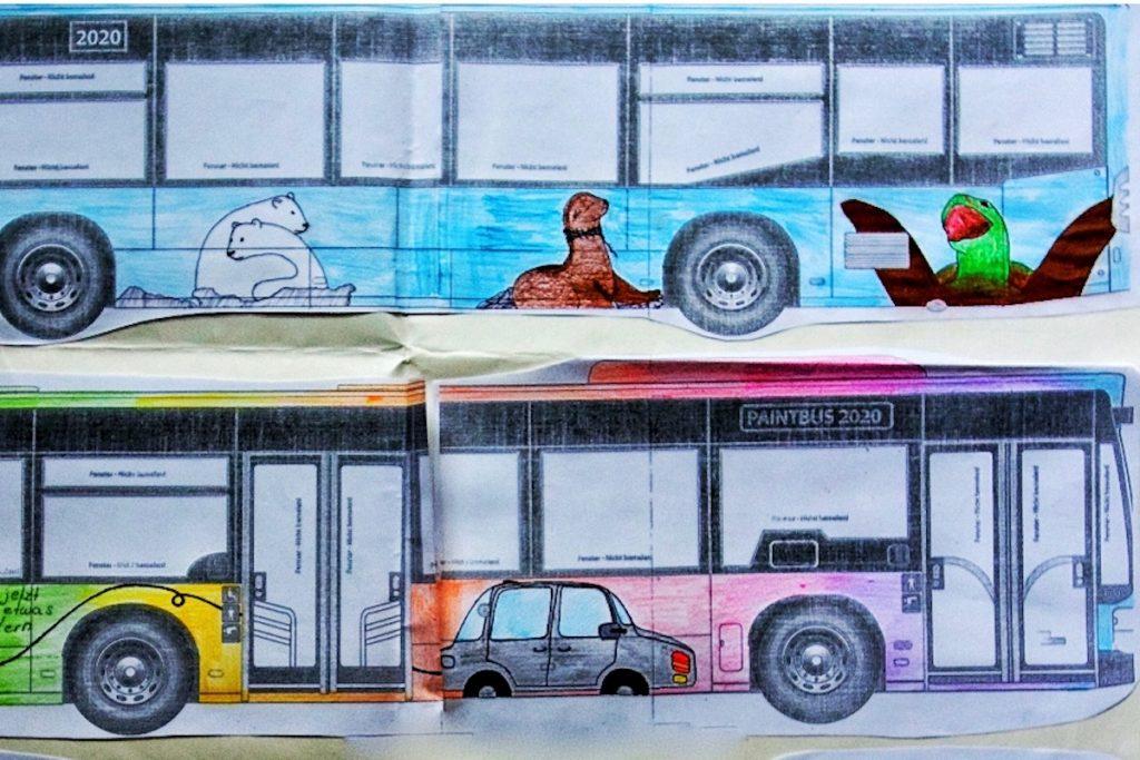 Der PaintBus 2020 Siegerentwurf der Ernst-Barlach-Gemeinschaftsschule in Wedel