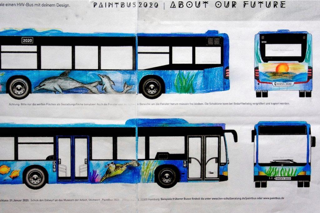 Der PaintBus 2020 Siegerentwurf der IGS Winsen
