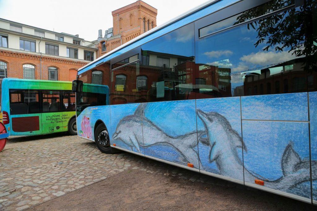 Der Bus der KVG wurde von der IGS Winsen gestaltet