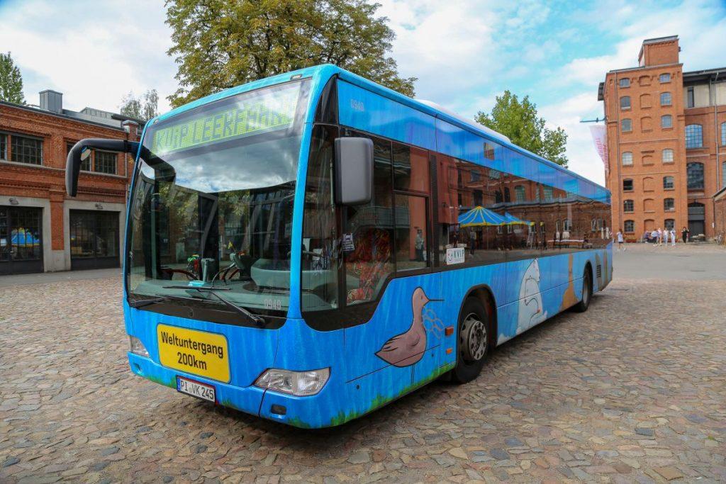 Der KViP-Bus wurde von der Ernst-Barlach-Gemeinschaftsschule in Wedel gestaltet