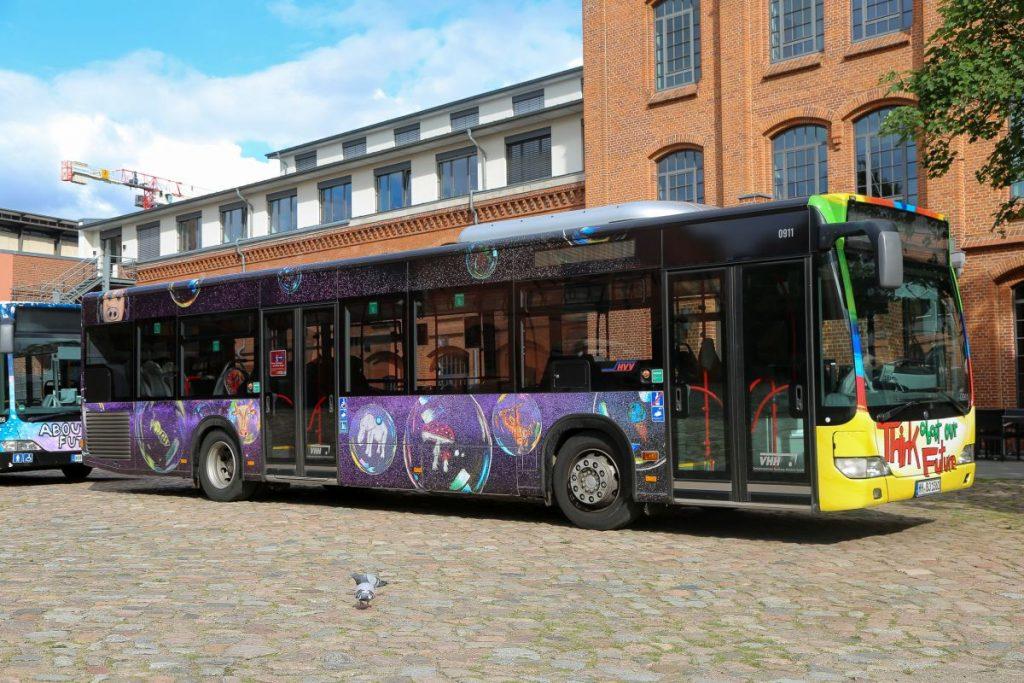 Der VHH-Bus wurde von der Stadtteilschule Hamburg-Bergstedt gestaltet
